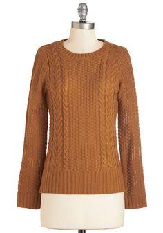 Well Begun is Half Spun Sweater in Spice. Try your hand at textile design in this spiced-pumpkin sweater - you may find you have quite the knack for it! #orange #modcloth