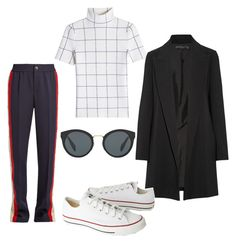 """""""Untitled #211"""" by ninaellie on Polyvore featuring Victoria Beckham, The Row, Gucci, Converse and Prada"""