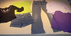 Little Girls Child Sizes 10 - 12 Lot of 6 Items:  Jean, Jean Shorts, & 4 Shirts #Circo #Everyday
