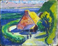 "igormaglica: ""Emily Carr, House in Brittany, oil on cardboard, 33 x 41 cm "" Canadian Painters, Canadian Artists, Emily Carr Paintings, Group Of Seven, Inuit Art, Impressionist Paintings, Country Artists, Native Art, American Art"