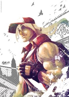 Terry Bogard by Austh King Of Fighters, Terry Bogard Fatal Fury, Forever Your Girl, Street Fights, Fighting Games, Video Game Art, Game Character, Wolves, Martial Arts