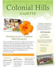 our colonial hills neighborhood association fall newsletter