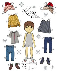 """*FREE* printable! """"Snow Queen"""" inspired paper-dolls by Christen Noelle"""
