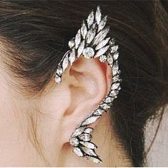 Exaggerated Hot Sale Rhinestoned Women's Solid Color Clip Earring (AS THE PICTURE) | Sammydress.com