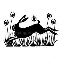 Running Hare Lino Print £20.00