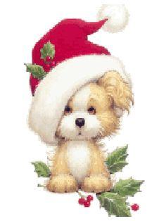 Christmas sweet dog.gif