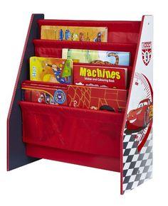 Disney Cars 864458 Bibliothèque Bois Rouge 51 x 23 x 60 cm: Bibliothèque Disney Cars Pour les enfants de 18 mois - 5 ans Pochettes en tissu…