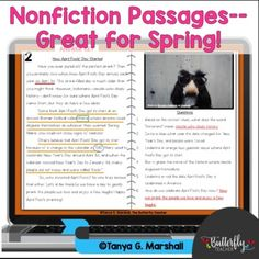 Free Spring Informational Text Passages Upper Elementary | Nonfiction Reading Reading Homework, Reading Practice, Reading Centers, Guided Reading, 2nd Grade Reading Worksheets, Reading Resources, Reading Passages, Upper Elementary, Nonfiction
