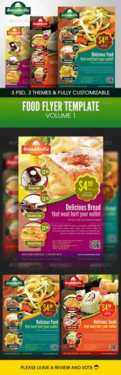 Food Flyer Template Volume 1