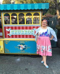 At the parks first stop CHURRO cart! by teamsparkle Pinup Girl Clothing, Food Stall, Churros, Pretty In Pink, Disneyland, Parks, Harajuku, Vintage Fashion, Instagram Posts