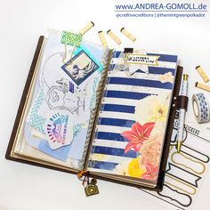 Creative Creations by Andrea Gomoll | Midori Travelers Notebook – Listers gotta List Challenge April – preparing my Journal | http://andrea-gomoll.de