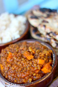 Serves 5: Crock Pot Indian Spiced Lentils