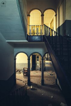 Shades | Matizes | Old abandoned religious college main stai… | Flickr - Photo Sharing!