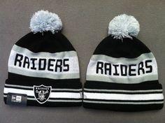 NFL Beanies New Era Knit Hats Caps Oakland Raiders 1329752! Only  7.90USD New  Era 5fff31f44661