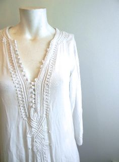 vintage. 70s White Caftan // Moroccan Dress // S by styleforlife, $125.25