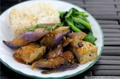 Japanese eggplants cook fairly quickly and this stir fry sauce consists of basic ingredients such as soy sauce, chile black bean sauce, palm sugar and fresh ginger. The ginger and black bean sauce enhances the bland eggplant and tofu. All that\'s left is to steam a few leafy greens and have jasmine rice ready in the rice cooker. It\'s as easy as 1-2-3!I barely have time for anything these days, and when I have very little time to cook, my go-to dish is a tofu stir fry. It's nutritious and it ...