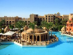 Makadi Palace hotel pool area  in Makadi Bay, Egypt. Follow us on www.facebook.com/PoolSupplyWorld for more pictures of awesome pools!