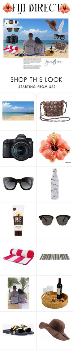 """""""#FIJIDIRECT #CONTEST"""" by lotesmm ❤ liked on Polyvore featuring NOVICA, Eos, Gucci, S'well, Lavanila, Gentle Monster, Black, WithChic, Picnic at Ascot and Valentino"""