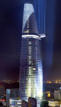 Bitexco Financial Tower, Ho Chi Minh city, Vietnam designed by Carlos Zapata Studio :: 68 floors, height 262m #architecture ☮k☮