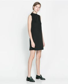Image 1 of FUNNEL COLLAR DRESS from Zara