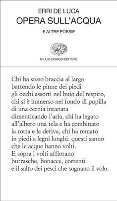 Opera sull'acqua: e altre poesie (Collezione di poesia Vol. 307) di [De Luca, Erri]