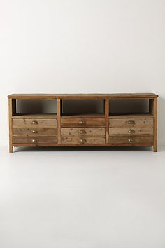 Anthropologie TV console - I'd prefer a built in, but I do like this console.