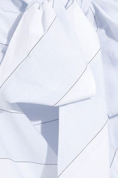 Paul & Joe - Bow-detailed Striped Cotton Dress - Light blue - FR38