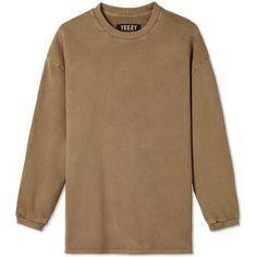 Yeezy Crew Sweatshirt in Fossil as seen on Kylie Jenner