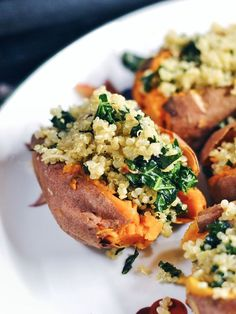 Easy and Healthy Kale and Quinoa Stuffed Sweet Potatoes