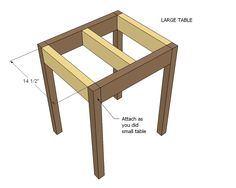 Nesting side tables with cute cottage charm for your living room! DIY plans to build these nesting end tables inspired by Pottery Barn Pratt Nesting Side Tables. Woodworking Furniture, Furniture Plans, Woodworking Plans, Woodworking Projects, Diy Furniture, Wood Projects, End Table Plans, Wood Nesting Tables, Cute Cottage