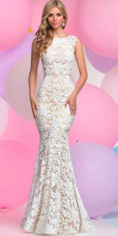 Exquisite All-over Lace Bateau Neckline Mermaid Evening Dresses With Beaded  Lace Appliques Mermaid Evening 5735d571d