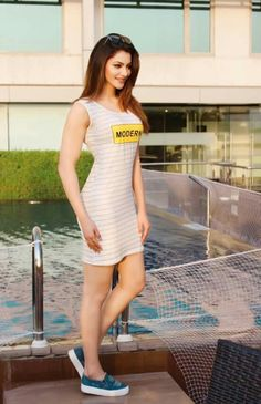 Bollywood actress Urvashi Rautela looking stunning in white striped dress on an event. Bollywood Actress Hot Photos, Beautiful Bollywood Actress, Beautiful Indian Actress, Bollywood Fashion, Beautiful Actresses, Actress Photos, Indian Celebrities, Bollywood Celebrities, Bollywood Actors
