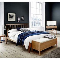 £799 Buy ercol for John Lewis Shalstone Bedstead, Oak, Double Online at…
