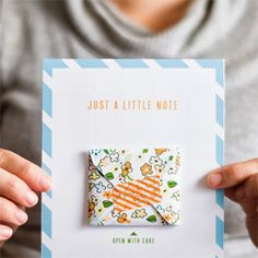 Send a handwritten note with this little note card and mini envelope (& one of those mini starbucks cards!!!)!