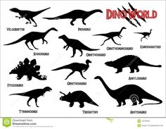 Dinosaurs Silhouettes Royalty Free Stock Photo - Image: 14723335