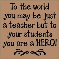 Love this!!! ....teach on my friends. :-)  **I think I'm going to make this and hang it in my classroom.