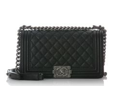 Chanel Medium Black Caviar Boy Bag