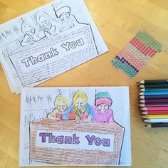 Personalised Colouring In Thank You Cards of your children for them to colour and send to relatives and friends. A fun and easy Thank you card idea.