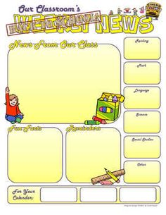 this is a concise one page newsletter that you can use to keep your