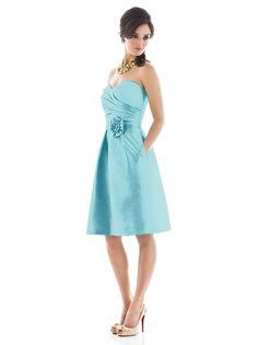 Aquamarine bridesmaid dress