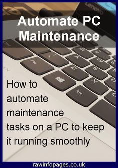 Keep Windows PCs running OK by automating maintenance tasks. Avoid problems and performance issues. Computer Basics, Computer Repair, Computer Technology, Computer Keyboard, Electronic Data Systems, Computer Troubleshooting, Youngstown Ohio