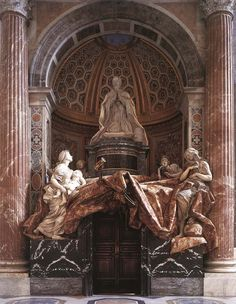 Tomb of Pope Alexander (Chigi ) VII by Bernini