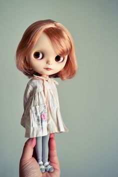 A sweet little Blythe custom in the most gorgeous clothes...*heart*