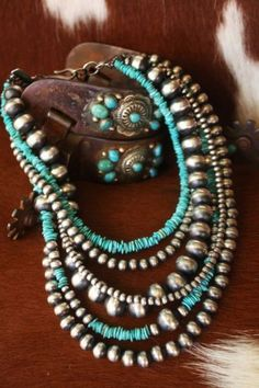 Beautiful necklaces made with native American craftsmanship...