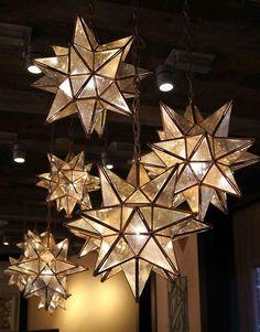 Stars Chandelier El Callejon Art Tin And Glass Stars