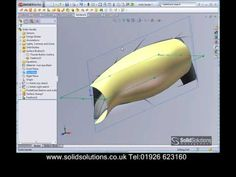 SolidWorks - Complex Shapes with Surfaces (awesome tutorial - very clear, lots of neat tricks) Solidworks Tutorial, Cad Programs, Cad Software, Industrial Design Sketch, 3d Tutorial, Mechanical Design, Aircraft Design, 3d Max, Technical Drawing