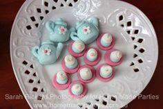 pink and aqua tea party | CatchMyParty.com