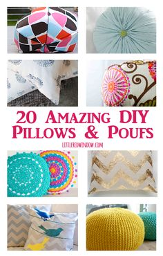 20 amazing DIY Pillows & Poufs | littleredwindow.com