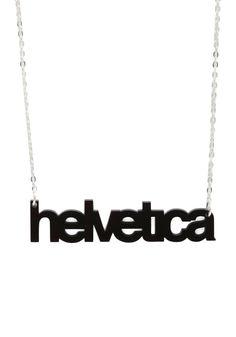 Font-tastic Necklace $21.99