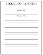 Church Meeting Minutes Template  Blank Meeting Agenda Template